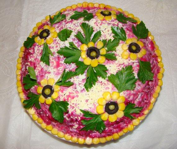 Украшение салатов с фото своими руками фото