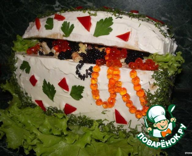 Украшение салатов и закусок 4