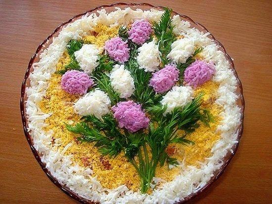 Блюда украшение салатов и закусок
